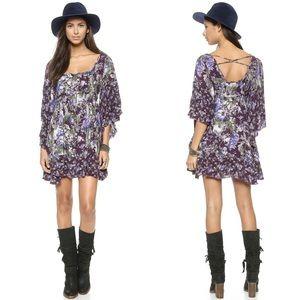 FREE PEOPLE Heart of Gold Bohemian Dress Purple